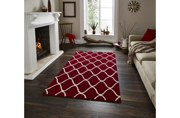 Think Rugs Wollteppich Elements EL 65 Rot