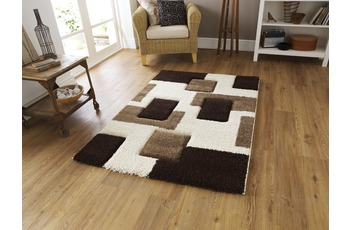 Think Rugs Fashion 7646 Ivory/ Brown 160 x 220 cm