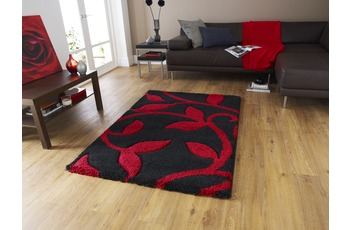 Think Rugs Fashion 7647 Black/ Red 160 x 220 cm