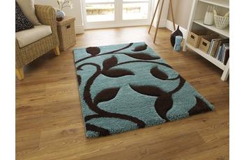 Think Rugs Teppich Fashion 7647 Blau/ Braun