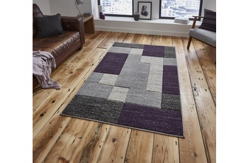 Think Rugs Matrix A0221 Grau/ Lilac