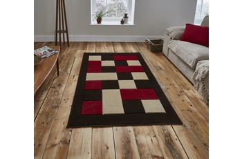 Think Rugs Matrix JR04 Brown/ Red 160 x 220 cm