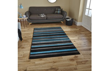 Think Rugs Matrix MT22 Black/ Blue 160 x 220 cm