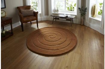 Think Rugs Spiral Brown 180 x 180 cm