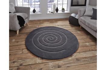 Think Rugs Spiral Grey 180 x 180 cm