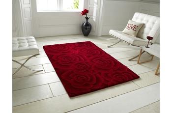 Think Rugs Wollteppich Valentine VL 10 Rot