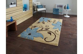 Think Rugs Teppich Verona OC15 Beige/ Blau