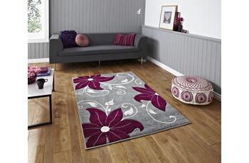 Think Rugs Teppich Verona OC15 Grau/ Purple