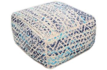 "Tom Tailor Pouf Smooth Comfort ""Diamond"", blue"