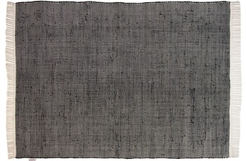 Tom Tailor Teppich Cotton Color, UNI, schwarz 60cm x 180cm