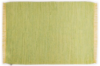 Tom Tailor Teppich Cotton Colors, Uni, green 60cm x 120cm