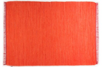 Tom Tailor Handwebteppich Cotton Colors, Uni, orange 60cm x 120cm
