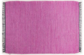 Tom Tailor Handwebteppich Cotton Colors, Uni, purple 140cm x 200cm