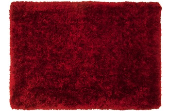 Tom Tailor Teppich Flocatic, Uni, rot 60cm x 90cm