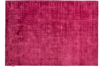 Tom Tailor Viskose-Teppich Shine, uni, 260 berry 140cm x 200cm
