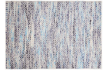 "Tom Tailor Handwebteppich Smooth Comfort ""Diamond"", blue 85cm x 155cm"