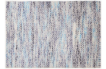 "Tom Tailor Handwebteppich Smooth Comfort ""Diamond"", blue 65cm x 135cm"