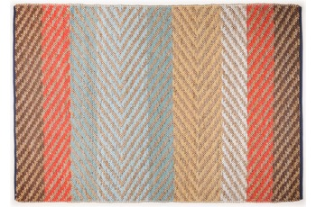"Tom Tailor Handwebteppich Smooth Comfort ""Pastel Stripe"", multi 140cm x 200cm"