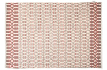 "Tom Tailor Teppich Smooth Comfort ""Small Pattern"", rot 65cm x 135cm"