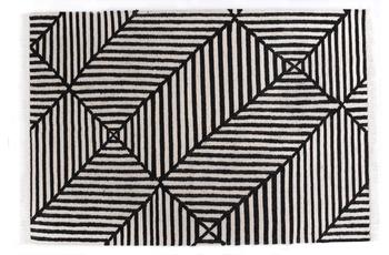 Tom Tailor Teppich Vintage CrissCross black /  white
