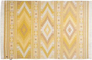 Tom Tailor Handwebteppich vintage, Kelim Colors I, gelb 65cm x 135cm