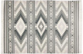 Tom Tailor Handwebteppich vintage, Kelim Colors I, grau 140cm x 200cm