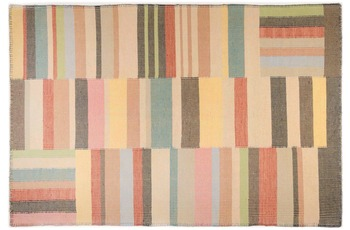 Tom Tailor Handwebteppich Vintage, Patch, multi 65cm x 135cm