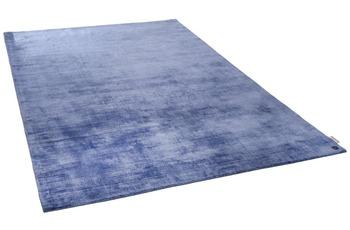 Tom Tailor Viskose-Teppich Shine uni 700 blau