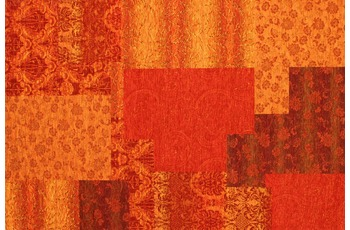 Kelii Patchwork-Teppich Alaska orange
