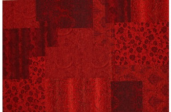 Kelii Patchwork-Teppich Alaska rot 240 cm x 290 cm