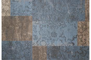 Kelii Patchwork-Teppich Colorado blau