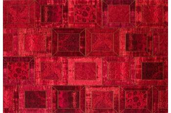 Kelii Patchwork-Teppich Montana rot