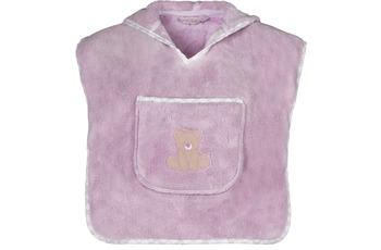 "Vossen Bademantel ""Teddy Kinderponcho"" lavender one size"