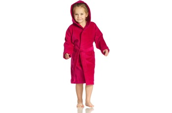 Vossen Velours-Kinderbademantel Texie cranberry