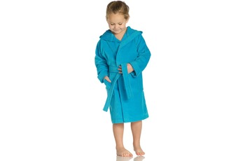 Vossen Velours-Kinderbademantel Texie turquoise