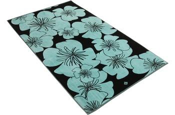 Vossen Strandtuch Flora capri blue 100 x 180 cm
