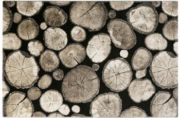 Wecon home Teppich Logs WH-28341-090 schwarz