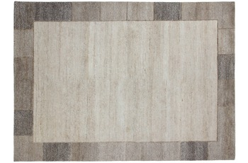 Luxor Living Nepal Teppich, Nature Line, Hanf Border, beige