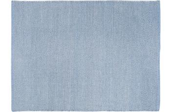 Wohn Idee Handwebteppich Liv, hellblau 120 cm x 170 cm