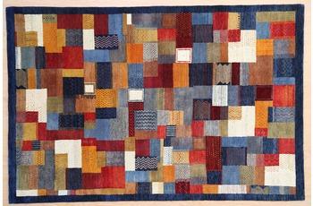 Zaba Gabbeh-Teppich Lorri Nomad blau/ multi 90 x 160 cm