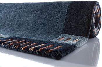 Zaba Nepalteppich Lalipur nachtblau 80 cm x 250 cm