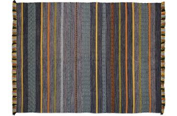 Zaba Teppich Kalleen handgewebt anthrazit 130 x 190 cm