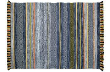 Zaba Teppich Kalleen handgewebt blau 130 x 190 cm