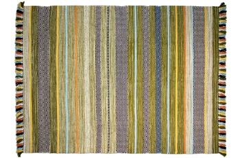 Zaba Teppich Kalleen handgewebt grün 130 x 190 cm