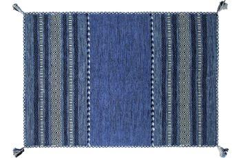Zaba Teppich Navarro handgewebt blau 130 x 190 cm