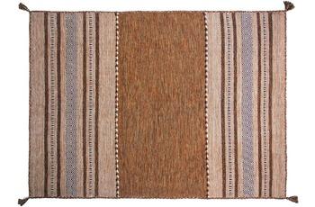 Zaba Handwebteppich Navarro braun 70 x 130 cm