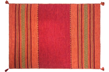 Zaba Handwebteppich Navarro rot 70 x 130 cm