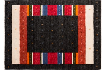 Zaba Gabbeh-Teppich Weavy N-01 anthrazit 90 x 160 cm