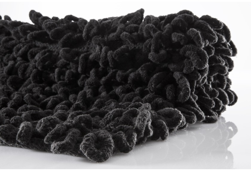 batex badematte loop schwarz reine baumwoll chenille badteppiche bei tepgo kaufen. Black Bedroom Furniture Sets. Home Design Ideas