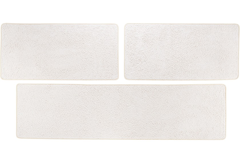 Andiamo Bettumrandung Shaggy, creme-weiß 2x 67 cm x 140 cm 1x 67 cm x 250 cm